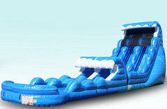 Tsunami Dual Waterslide with Pool and Slip n Slide