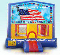 United We Stand Patriotic Flag Bounce House