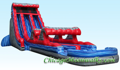 Wave Runner Dual Waterslide with Pool and Slip n Slide