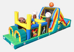 Sports All Star Inflatable Slide Obstacle Course 40'