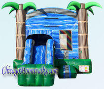 Blue Crush Combo Bounce House