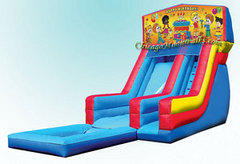Happy Birthday Waterslide with Pool 2