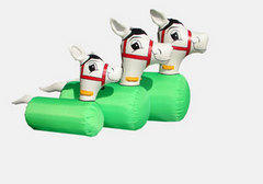 6 Inflatable Ponies, Use only on gym or grass.