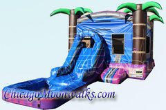 Purple Crush Wet Combo Bounce House
