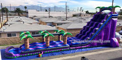 Purple Crush Dual Waterslide with Pool and Slip n Slide