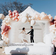 White Wedding Bounce House Deluxe