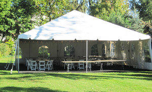 Traditional Frame Tent Rental 20x40 With side walls