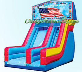 United We Stand Patriotic Flag Slide