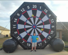 Giant 16' Soccer / Baseball Velcro Dart Game