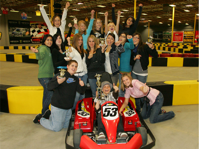 Champion Party package racers