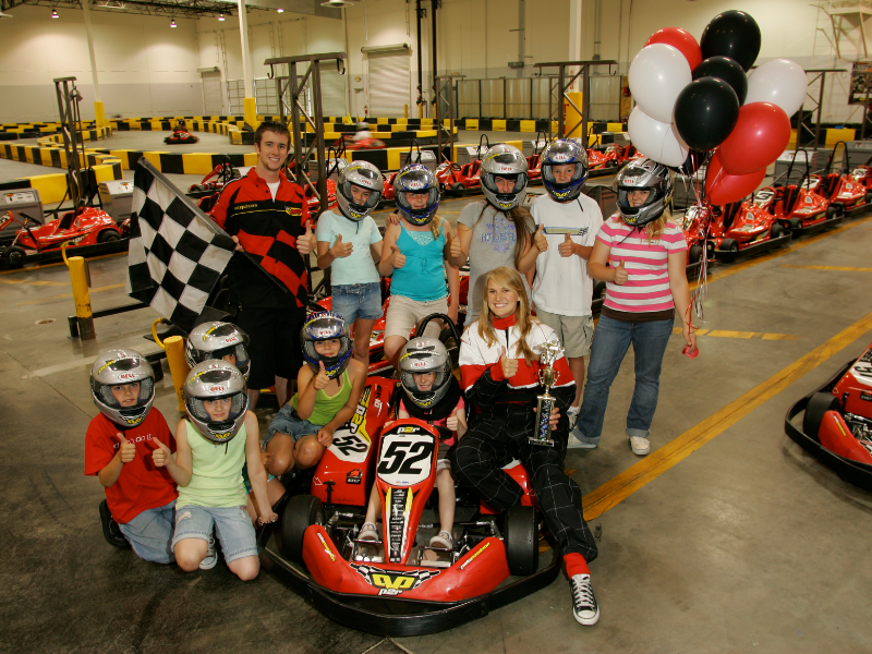 Kid go kart birthday parties