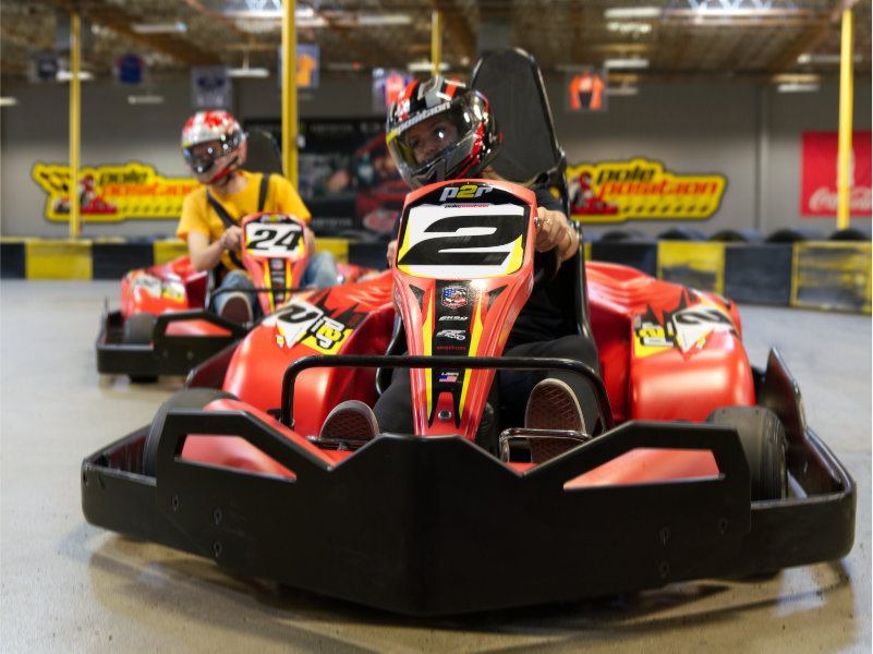 Adult Rookie go kart racers
