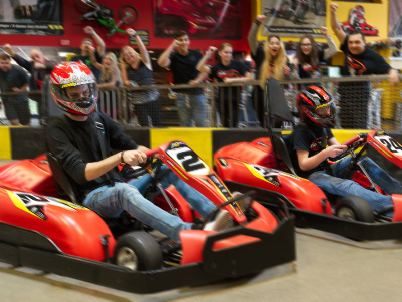Group Go Kart racers