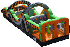 35' Radical Run Inflatable Obstacle Course! (Part A)