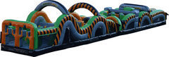 66' Radical Run Inflatable Obstacle Course! (A/B)