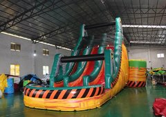 Dual Lane Toxic Plunge Water Slide