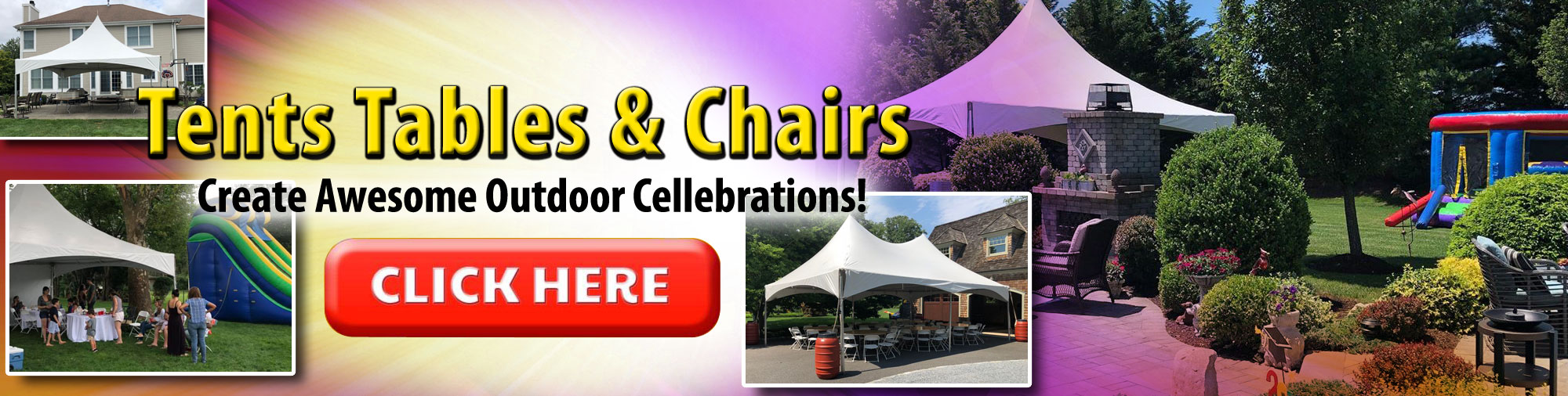 Tents table chairs rentals