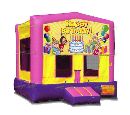 Pink Birthday Bounce House