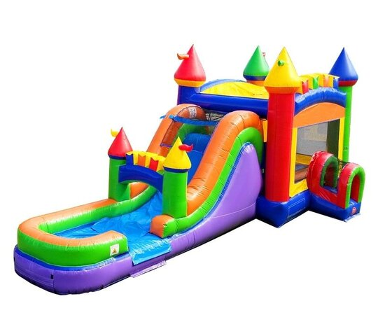 Rainbow Castle Combo Bounce House