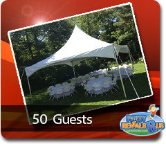 High Peak Tent Package for 50 Guests