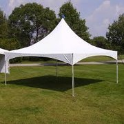 20x20 White High Peak Frame Tent