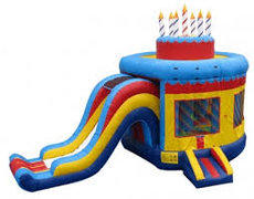 Happy Birthday Cake Bounce House Combo