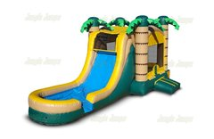 Jungle Bounce House Combo Wet