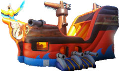 Large Pirate Ship Combo Bounce House