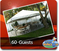 Frame Tent Package for 60 Guests