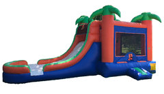 Tropical II Combo Bounce House Wet