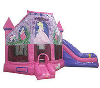 Pink Princess Combo Bounce House