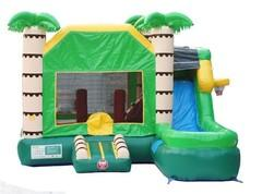Tropical Combo Bounce House Wet