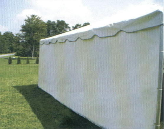 Solid White Tent Walls