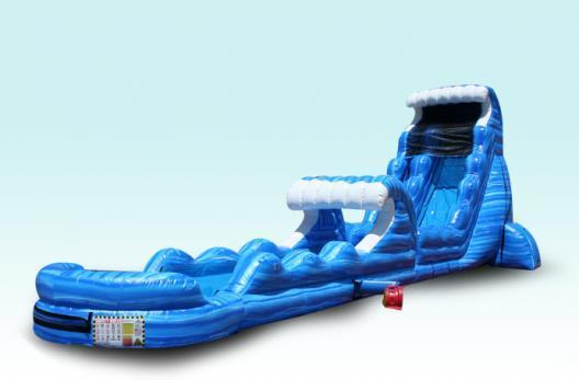22' Tsunami Double Drop with slip and slide and pool