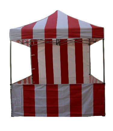 Carnival Tent with sides and Back
