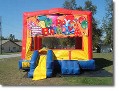 Happy Birthday Bounce House with Mini Slide