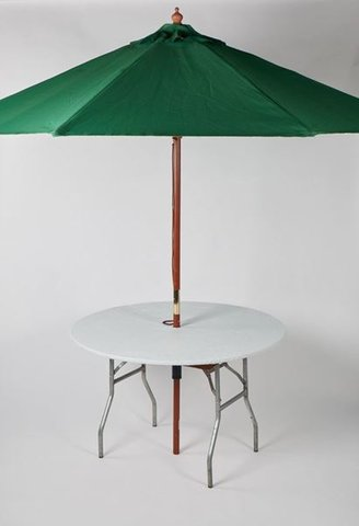 48 inch round table with umbrella and fitted cover