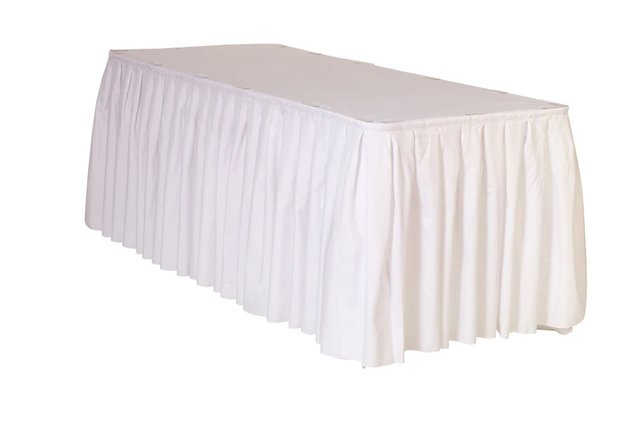 White skirting 14ft x 29 inch