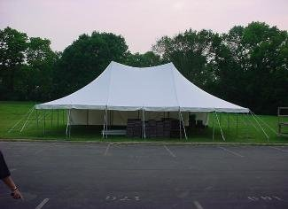 20' X 30' (600 Square Feet) Pole Tent on grass