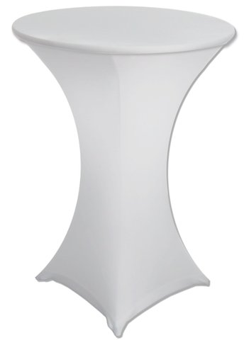 High top tables with white spandex cover included