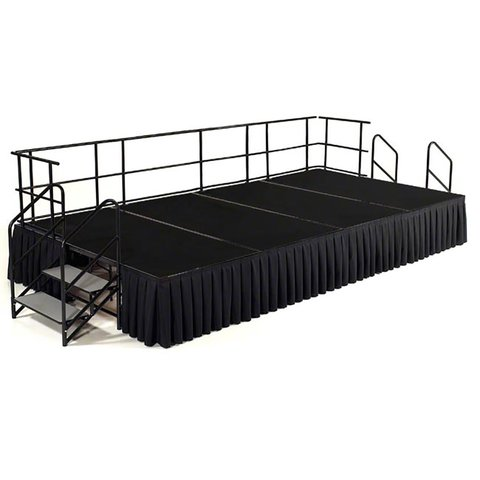 6ft x 16ft stage skirt and steps