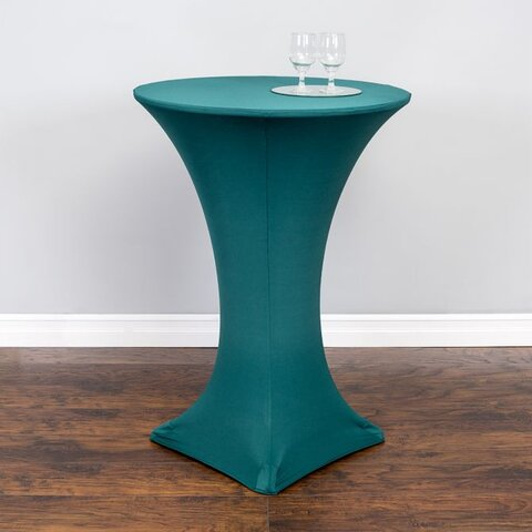 Spandex high top table cover (Hunter Green)