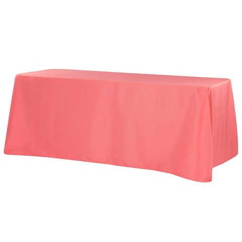 90 inch X 156 inch rectangle coral table linen
