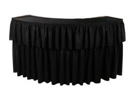Black  stage and bar top Skirting 10ft x 15 inch