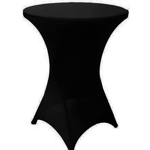 High top tables with black spandex cover Included