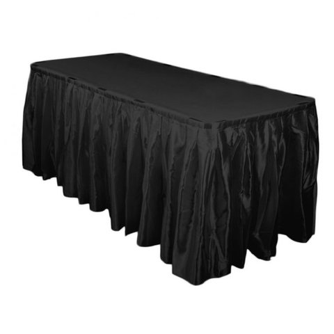 Black satin skirting 14ft x 29 inch