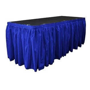 Royal blue satin skirting 14ft x 29 inch
