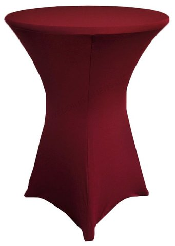 Spandex high top table cover (burgundy)