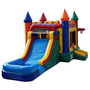 Rainbow Castle Wet Slide