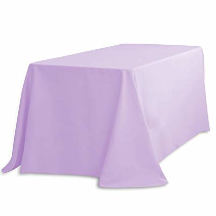 90 inch x 132 inch rectangle lavender table linen